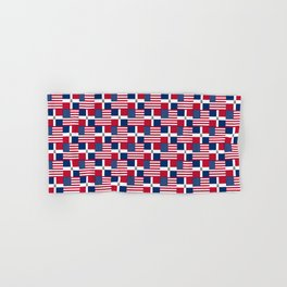 Mix of flag: usa and dominican republic Hand & Bath Towel