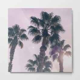 Palm Tree Art Print {2 of 3} | Magenta Pastels Topical Beach Plant Nature Vacation Sun Vibes Artwork Metal Print