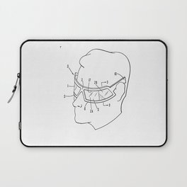 Retro 80s and 70s Man with Sunglasses Laptop Sleeve