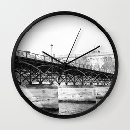 Paris in Black and White, Pont des Arts Wall Clock