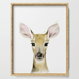 Fawn, Animal portrait #society6 Serving Tray