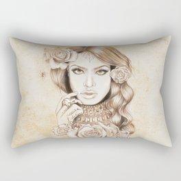 Aaliyah Vintage Art Rectangular Pillow