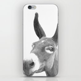 Black and white donkey iPhone Skin
