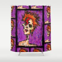 aladdin Shower Curtains featuring Aladdin Sane by brett66