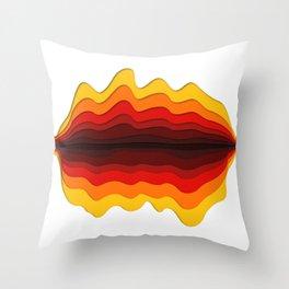 Fire wave Throw Pillow