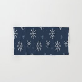 Artistic snowflakes pattern Hand & Bath Towel