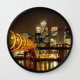 London, Piers of Docklands Hilton Wall Clock