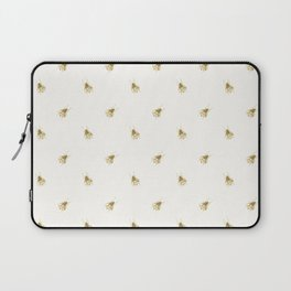 Gold Watercolour Bee Print Laptop Sleeve