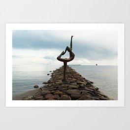 Dancer on the stones Art Print