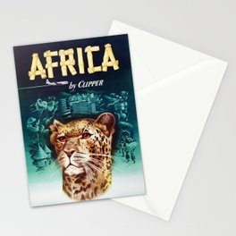 Africa - 1950s Vintage Travel Poster Stationery Cards