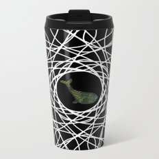 Bronze Whale in mandala Metal Travel Mug
