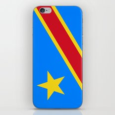 National flag of the Democratic Republic of the Congo, Authentic version (to scale and color) iPhone & iPod Skin