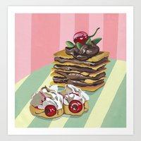 Almond Cake with Meringues Art Print