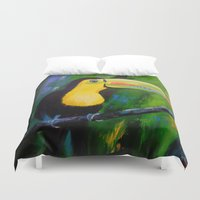 toucan Duvet Covers featuring Toucan by OLHADARCHUK