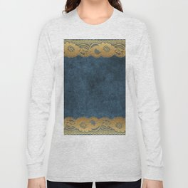 Blue Lace Velvet 03 Long Sleeve T-shirt
