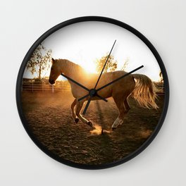 sunset gold Wall Clock