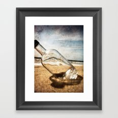 Bottle On Beach II Framed Art Print