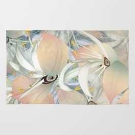 Planet of Flowers Abstract Rug