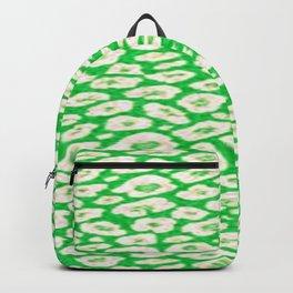 green cheetah animal print Backpack
