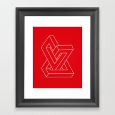 Optical illusion - Impossible figure Framed Art Print