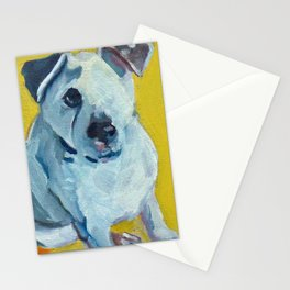 Beautiful Dolly the White Dog Stationery Cards