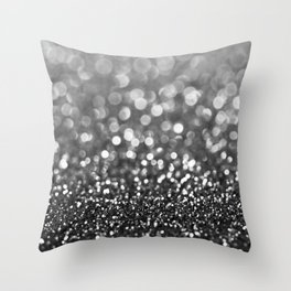 Ebony Sparkle Throw Pillow