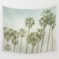 palm trees Wall Tapestries featuring Palm Trees by Pure Nature Photos