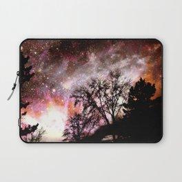 Black Trees Pink Peach Sorbet Space Laptop Sleeve