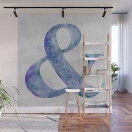 Watercolor Ampersand Wall Mural