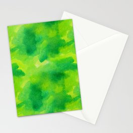 Watercolour greened Stationery Cards