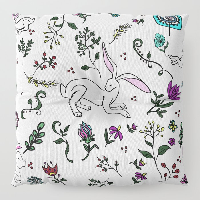 Spring Hare Floor Pillow