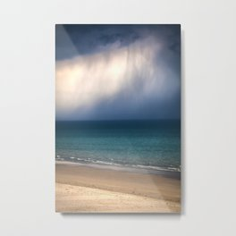 Beach, Sea, Sun and Clouds Metal Print