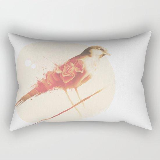 PAINTED BIRD Rectangular Pillow