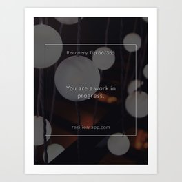 Recovery Tip #66 Art Print