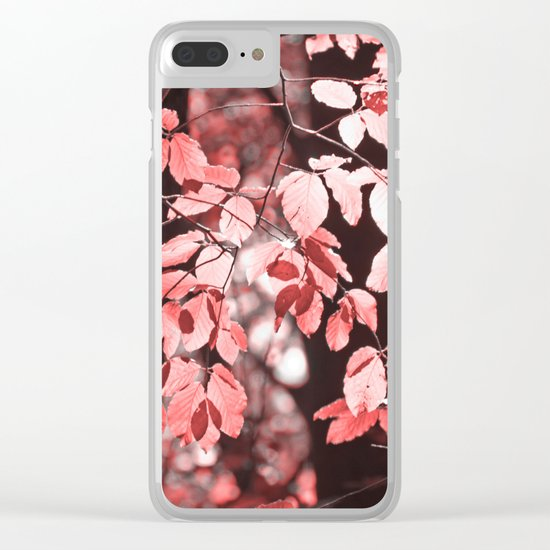 Red leaves Clear iPhone Case