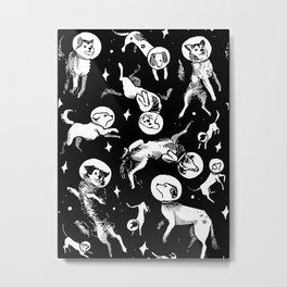 Space Dogs Metal Print