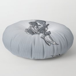 Cannes 2013 x Spielberg x ET (black and white) Floor Pillow