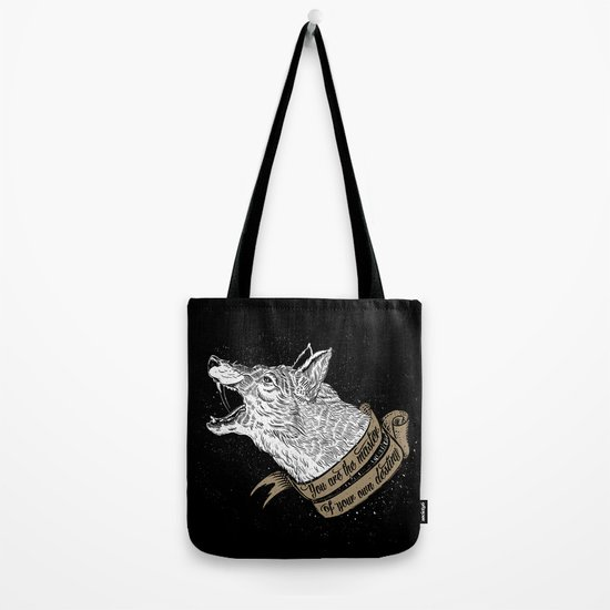 Wolf Protector (Black n Bronze collection) Tote Bag