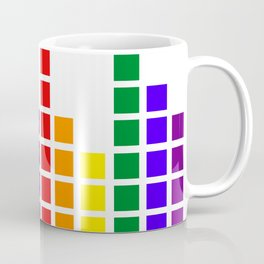 Rainbow Graphic Equalizer Coffee Mug