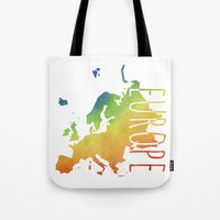 europe Tote Bags featuring Europe by Stephanie Wittenburg