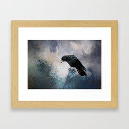 Black Crow Framed Art Print