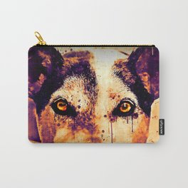 lying dog close-up view wsls Carry-All Pouch