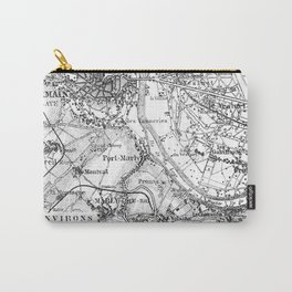 Vintage Paris Map Carry-All Pouch