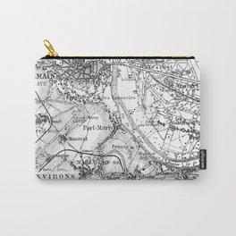 Vintage Paris Map Carry-All Pouch