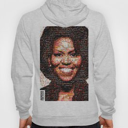BEHIND THE FACE Michelle Obama | fat women Hoody