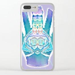 Double Hamsa Clear iPhone Case
