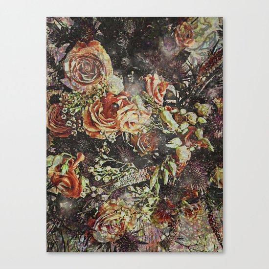 Dramatic Winter Flowers Canvas Print