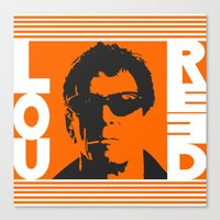 lou reed Canvas Prints featuring Lou Reed by Silvio Ledbetter