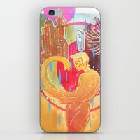 cities iPhone & iPod Skins featuring Building Cities by Manfish Inc.