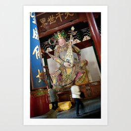 Buddhist Prayer Art Print